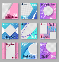 modern set of abstract posters covers cards vector image