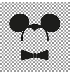 mouse sticker vector image
