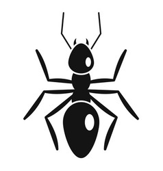 Nature ant icon simple style vector