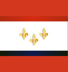 New orleans city flag vector
