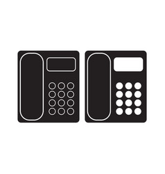 Office phone icon telephone flat sign isolated on vector
