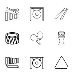 percussion icons vector image