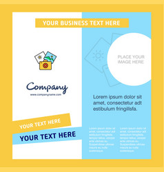 photography company brochure template busienss vector image