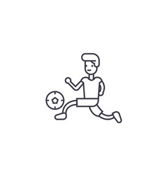 playing football line icon sign vector image