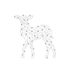 Polygonal of deer vector