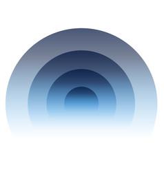 Radial radiating circular element graphics for vector