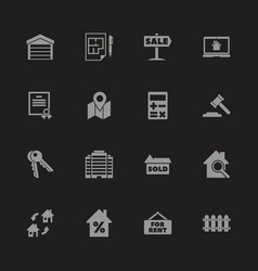 Real estate - flat icons vector
