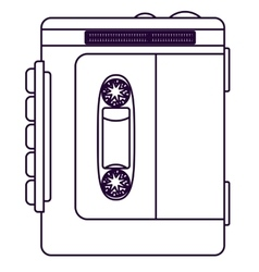 Retro cassette technology design vector