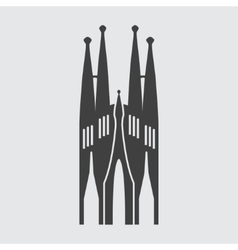 Sagrada Familia icon vector image