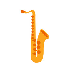 saxophone part of musical instruments set of vector image