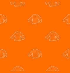 Seaman clothes pattern orange vector