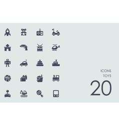 Set of toys icons vector image