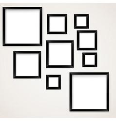 Set of vintage picture frames hanging vector