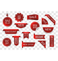 set sale tags new collection and offers labels vector image