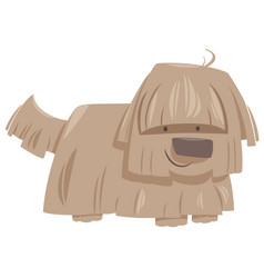 Shaggy dog animal character vector
