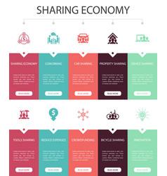 Sharing economy infographic 10 steps ui design vector
