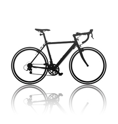 Silhouette of sports bicycle vector