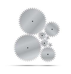 silver gear and cogwheel vector image