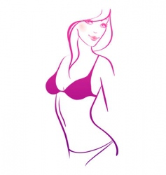 Slim women nude vector