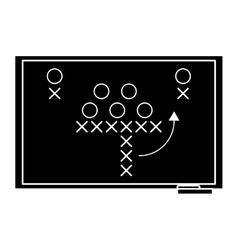 Sport tactics chalkboard american football vector