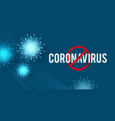 stop coronavirus covid-2019 on blue background vector image