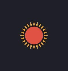 sun computer symbol vector image