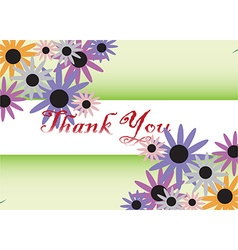 Thank You card background vector