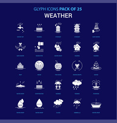 Weather white icon over blue background 25 icon vector