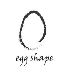 whole egg shape in grunge style vector image
