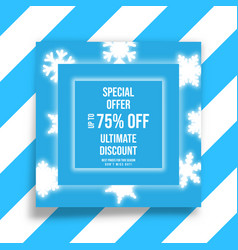 winter shopping sale flyer template vector image