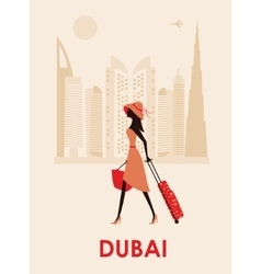 Woman in Dubai vector image