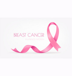 world breast cancer awareness month pink silk vector image