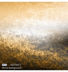 Abstract polygonal mesh space futuristic vector image