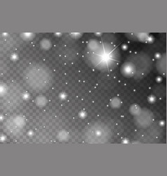 abstract shiny white sparcles and flares effect vector image
