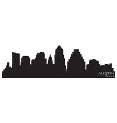 austin texas skyline detailed silhouette vector image vector image
