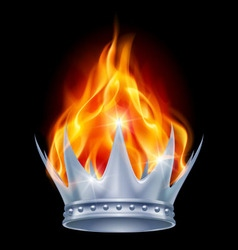 Burning crown vector image vector image