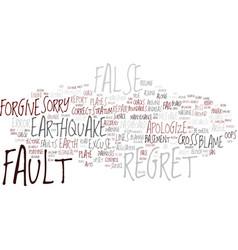fault word cloud concept vector image