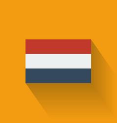 Flat flag of Netherlands vector image vector image