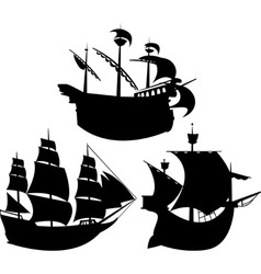 sail silhouettes vector image vector image