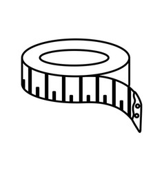 tape sewing measure icon vector image