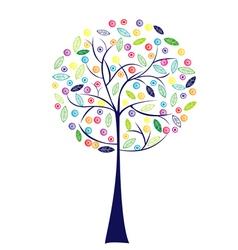 happy tree vector image vector image