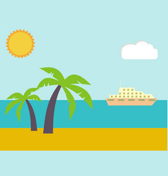 sand on the summer beach near the tropical sea vector image