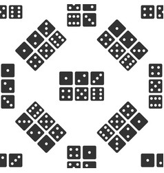 set of six dices icon seamless pattern on white vector image vector image