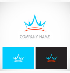 crown abstract royal logo vector image