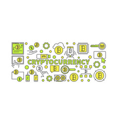 crypto currency colorful - vector image vector image