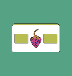 Flat icon design collection videocassette and vector