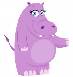 hippo presenting vector image vector image