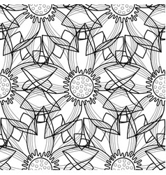 lotus modern seamless pattern vector image vector image