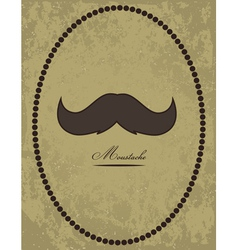 Moustache background vector image vector image