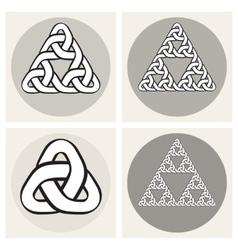 Set Of Four Celtic Interweaving Line vector image